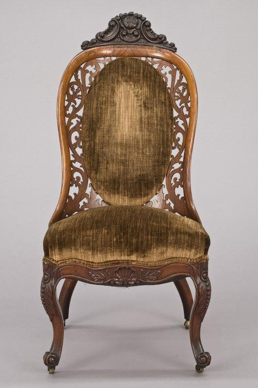 14: Belter style rosewood laminated back parlor chair