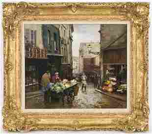 157: Victor Gabriel Gilbert oil painting on canvas,