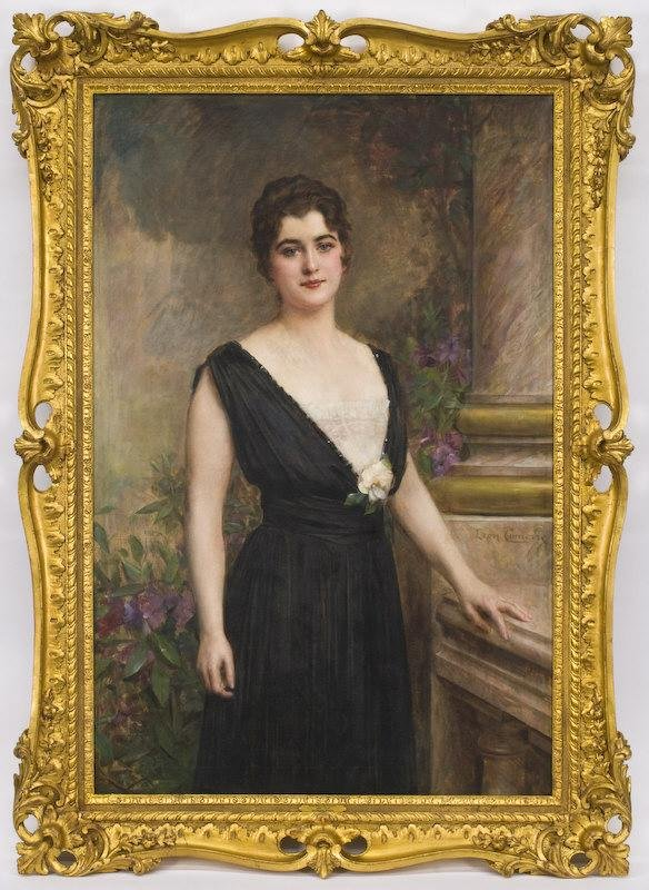 195: Leon Francois Comerre oil painting on canvas