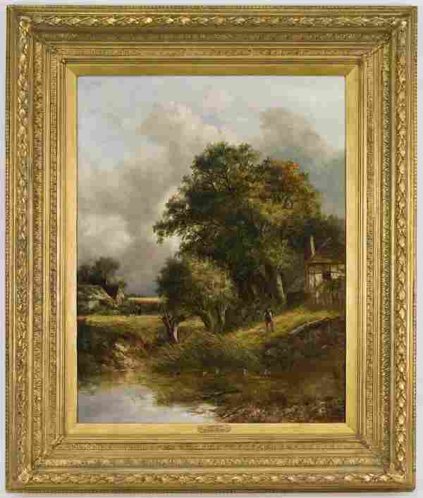 204: Joseph Thors oil painting on canvas,