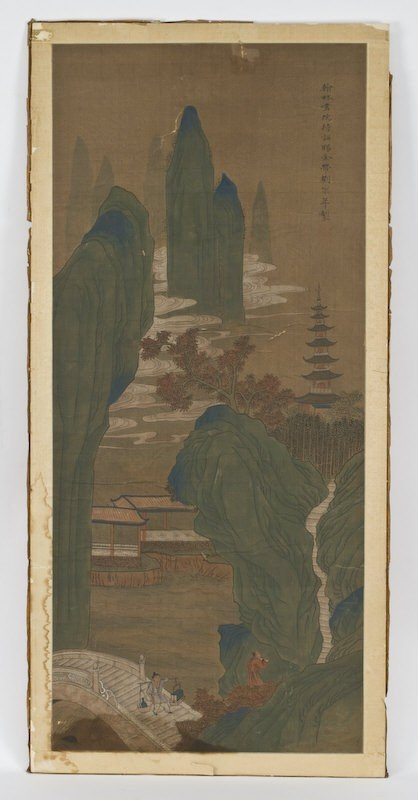 20: Chinese watercolor silk attr. to Liu Song Mian