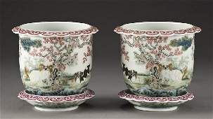 76: Pr. Chinese early Republic porcelain jardinieres