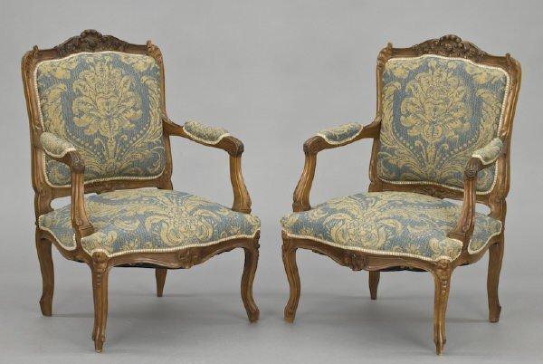 8: Pr. Louis XV style arm chairs,