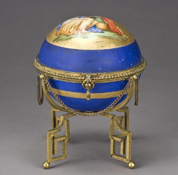 11: Continental Vienna style porcelain perfume casket