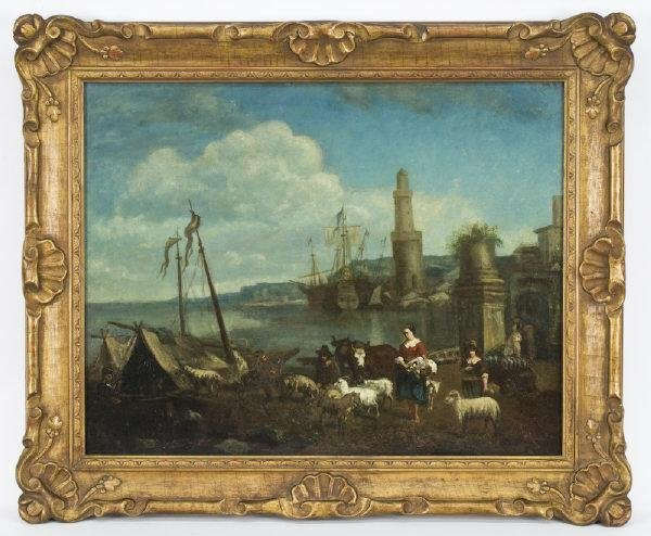 18: French school oil painting on canvas,