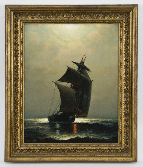 24: James Gale Tyler oil painting on canvas,