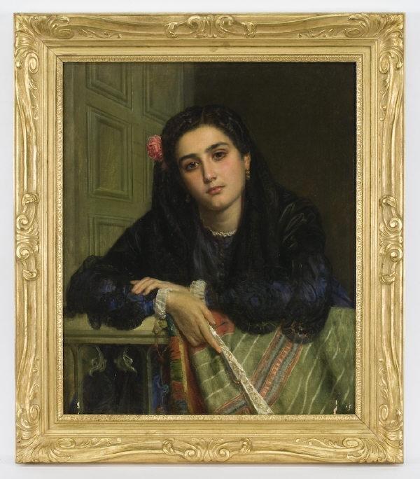 217: John Phillip oil painting on canvas,