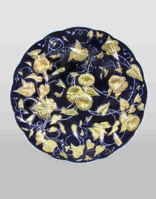 4: Meissen style show plate with gilt