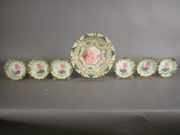 5: (7)pc. R.S. Prussia berry set in a pink