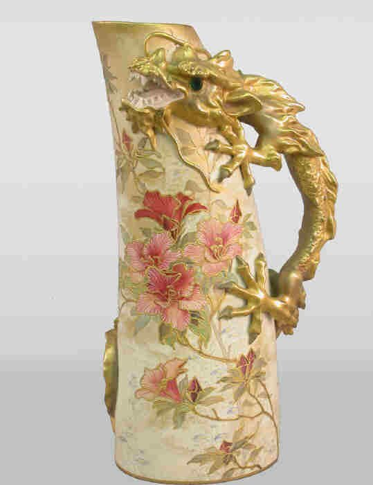 8B: Unusual Doulton gilt decorated pitcher