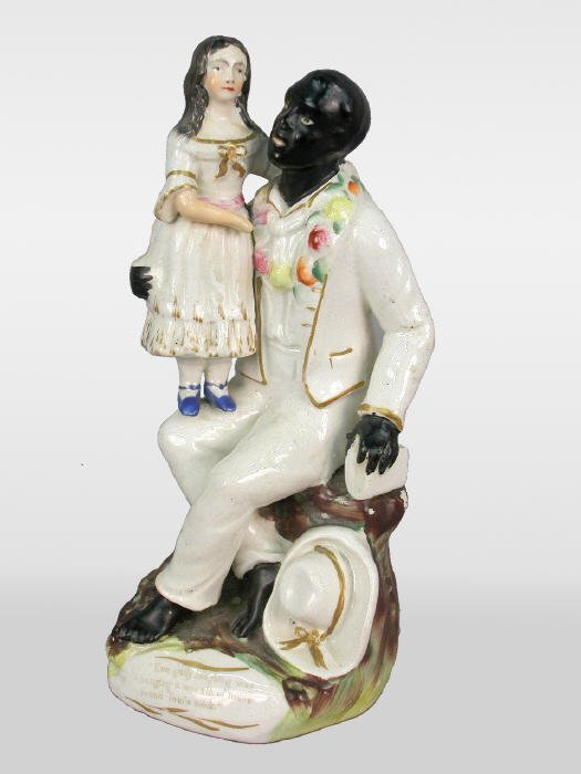 12: Staffordshire figure, Uncle Tom & Eva
