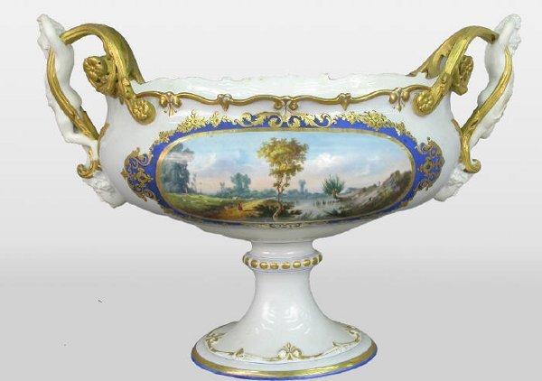 14: German Continental porcelain compote