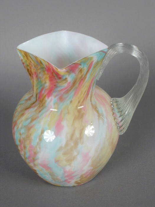 20: Hobbs Spattered ware water pitcher,