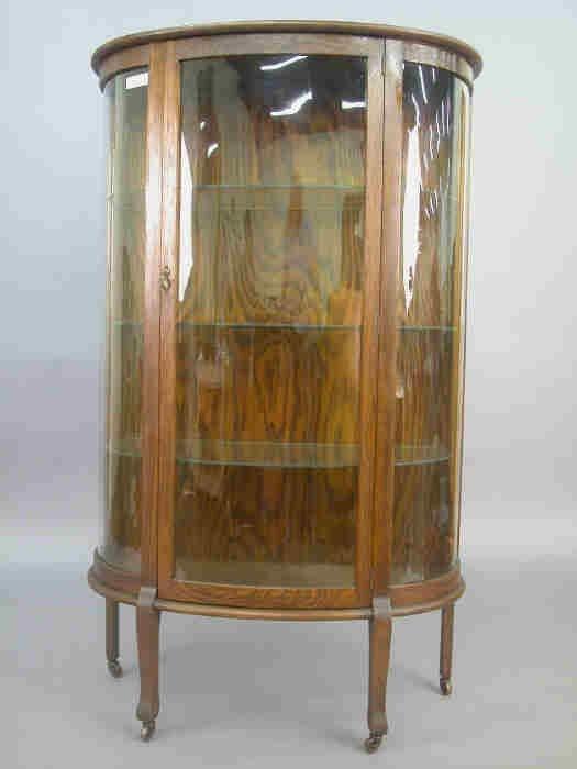 22: American mahogany display cabinet with