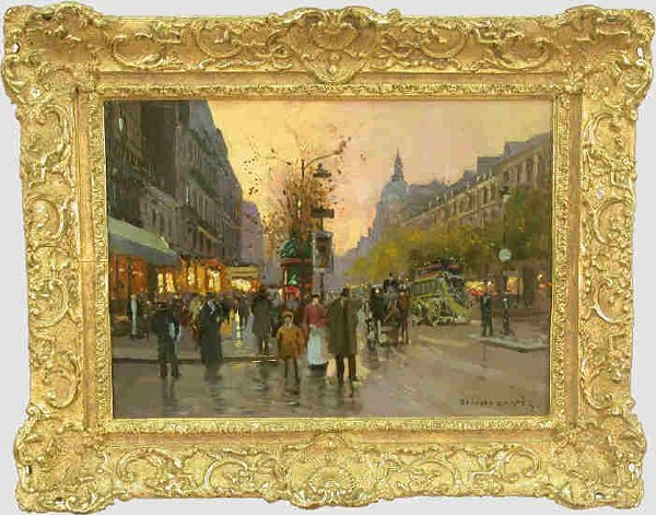 207: Signed Edouard Cortes (LR) oil on canvas