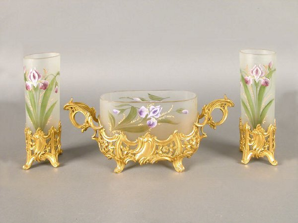 509: (3)pc. French console set,