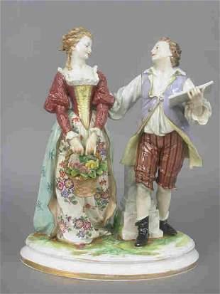Ludwigsburg porcelain figure group.