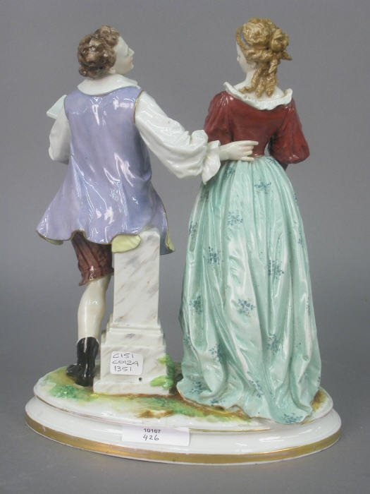 521: Ludwigsburg porcelain figure group. - 2