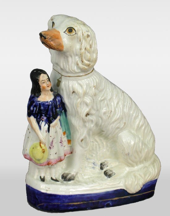 523: Large Staffordshire spaniel with girl