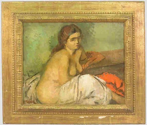 697: Signed M. Soyer (LL), oil on canvas,