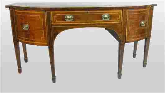 723: George III mahogany sideboard with one