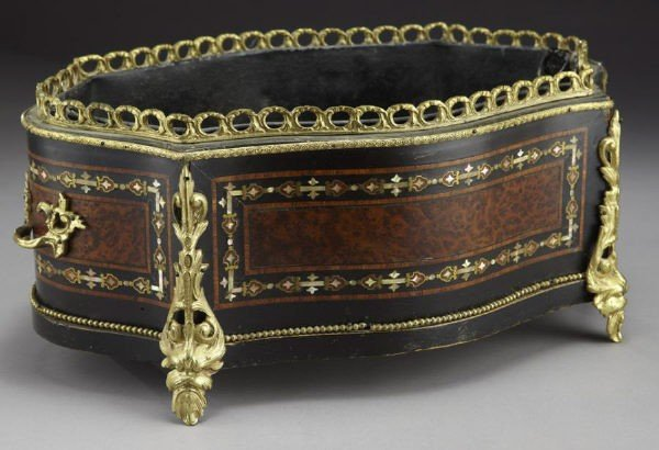 2: French style inlaid and ormolu mounted jardiniere