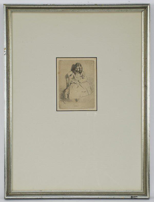 """3: James Abbott McNeil Whistler, """"Annie Seated"""""""