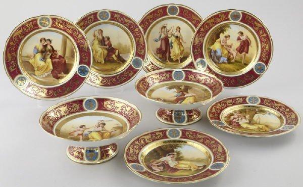 4: 8 Pcs. Royal Vienna style porcelain
