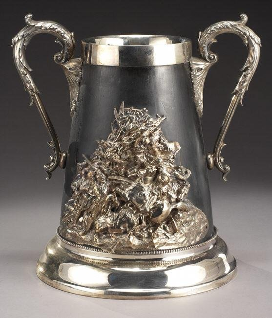 11: Attributed to Elkington silver plate flagon
