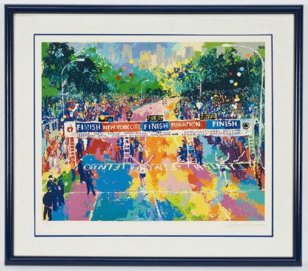 "21: LeRoy Neiman serigraph ""Classic Marathon Finish""."