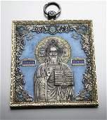 198 Russian silver gilt cloisonne enamel icon