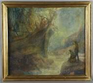 251: Harry Mann Waddell oil painting on board,