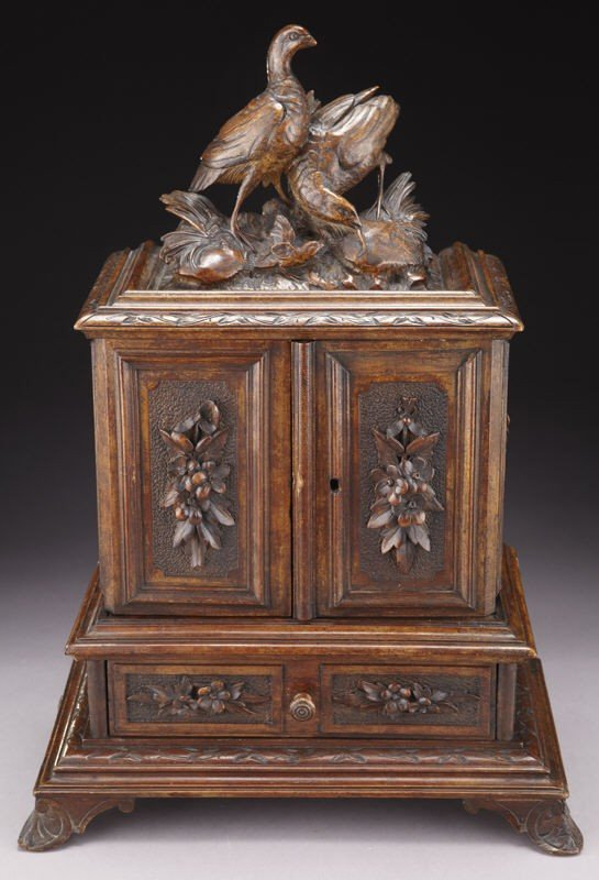 4: Black Forest carved box, the rectangular cabinet