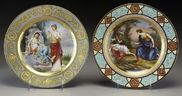 5: (2) Royal Vienna porcelain plates;