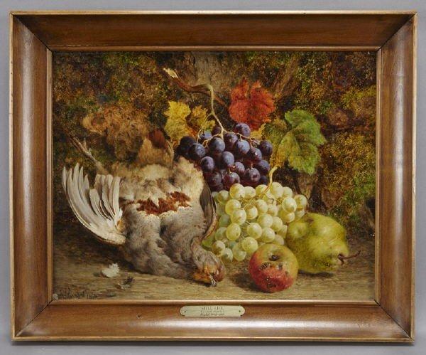 """6: William Hughes, """" Still Life""""  oil paint"""