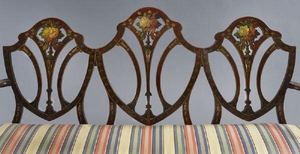 7: Hepplewhite style mahogany chair back settee, - 3