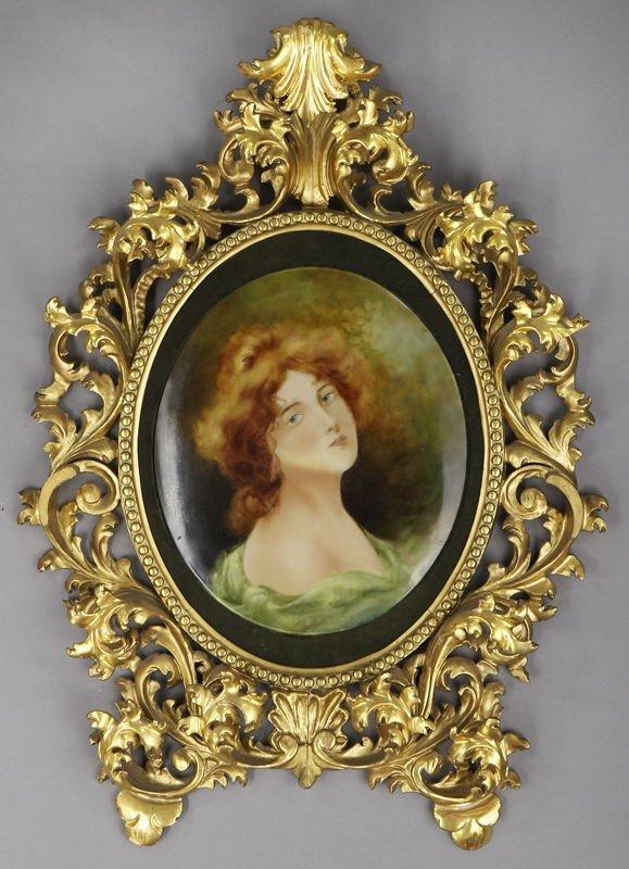 11: Italian Rococo style carved gilt wood frame