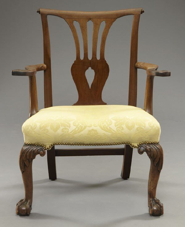 12: American Chippendale style arm chair