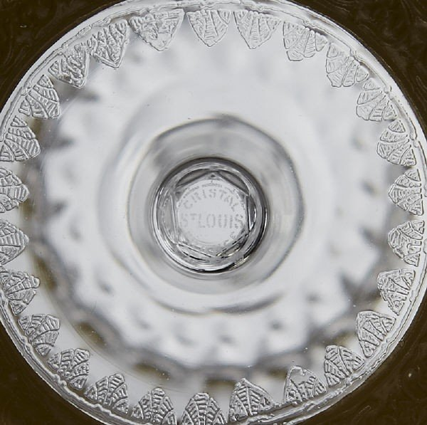 16: (8) St. Louis Crystal Thistle pattern water goblet - 2