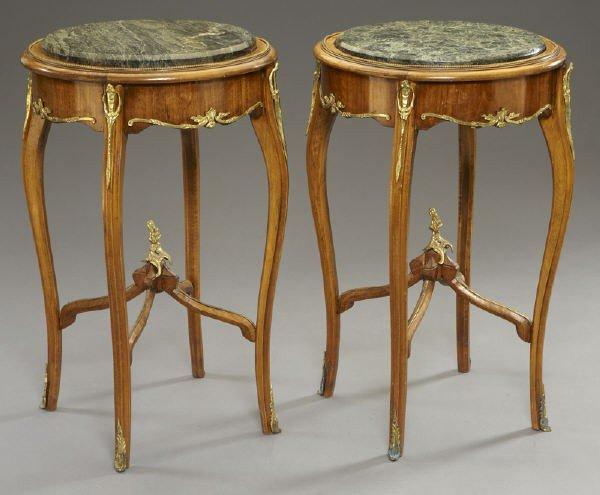 17: Pr. Louis XVI style ormolu mounted side tables - 2