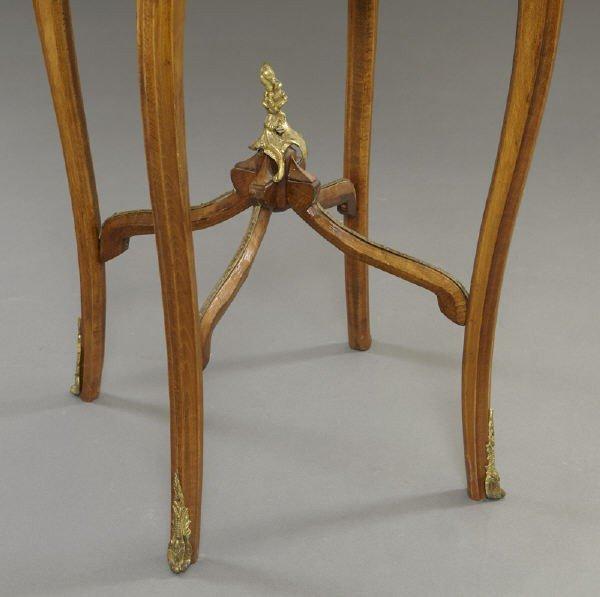 17: Pr. Louis XVI style ormolu mounted side tables - 4