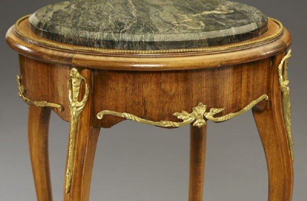 17: Pr. Louis XVI style ormolu mounted side tables - 5
