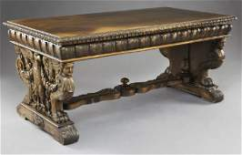 67 American Renaissance Revival library table