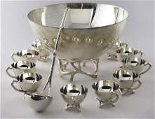 """145: 14pc. Tiffany sterling silver """" Twig"""""""