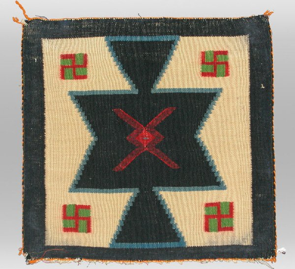 5: A Navajo Indian square Germantown weaving with