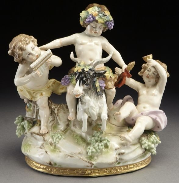 2: Meissen style porcelain figural group
