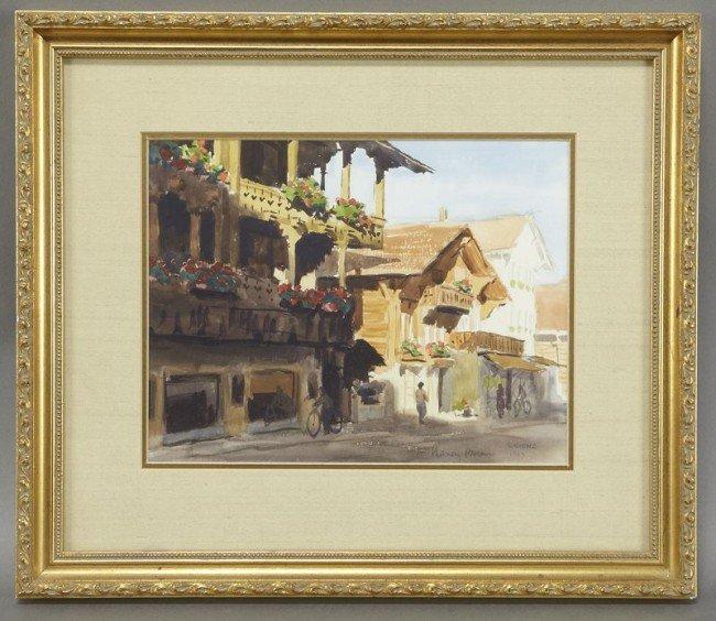 "5: Nancy Boren, ""Brienz"" watercolor"