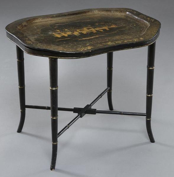 7: Victorian Chinoiserie papier-mache tray