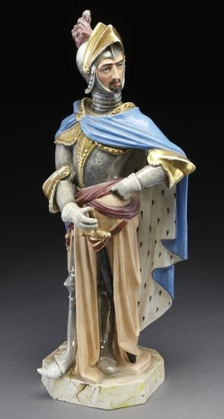 11: French Jacob Petit porcelain figure of a Knight,