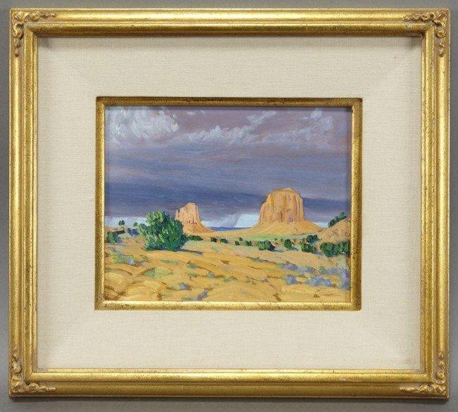 """15: William Berra, """"Monument Valley"""" oil painting"""